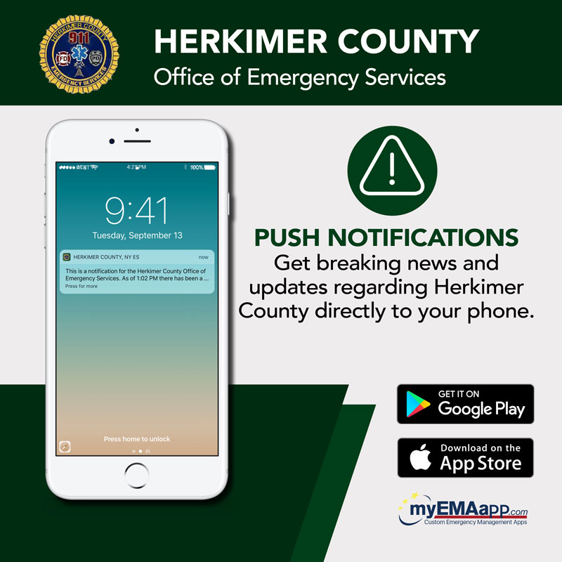 Herkimer County Office of Emergency Communications: Get breaking news and updates regarding Herkimer County directly to your phone. Available on Google Play and the App Store.